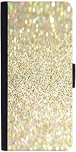 Snoogg Sands And Crystals Graphic Snap On Hard Back Leather + Pc Flip Cover M...