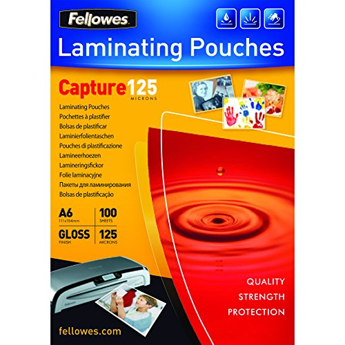 fellowes-capture-a6-125-micron-glossy-laminating-pouches-pack-of-100