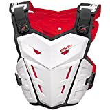 EVS F1 Adult Roost Guard MotoX/Off-Road/Dirt Bike Motorcycle Body Armor - White / Large/X-Large