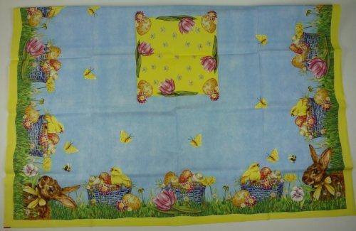 """8077, 3 Stück Dunicel Tischdecke """"Easter Time"""" von Duni 84 x 84 cm"""