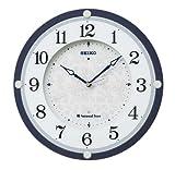 SEIKO CLOCK(セイコークロック) ナショナル・トラスト 木枠インテリア電波掛時計(濃青) KX378L