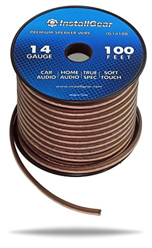 InstallGear 14 Gauge Ga Awg 100ft Speaker Cable True Spec and Soft Touch Wire (14 Gauge Speaker Wire compare prices)
