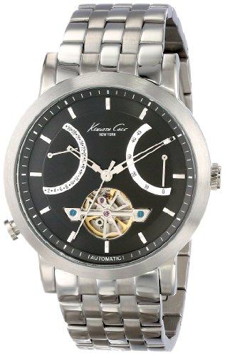 kenneth-cole-new-york-homme-kc9318-automatic-round-black-dial-bracelet-montre