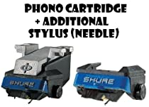 Shure M97xE High-Performance Magnetic Phono Cartridge Plus Additional N97XE Replacement Stylus