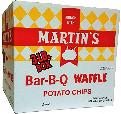 Martin's B-B-Q Waffle Potato Chips (3 LB Box) (Martins Bbq Chips compare prices)