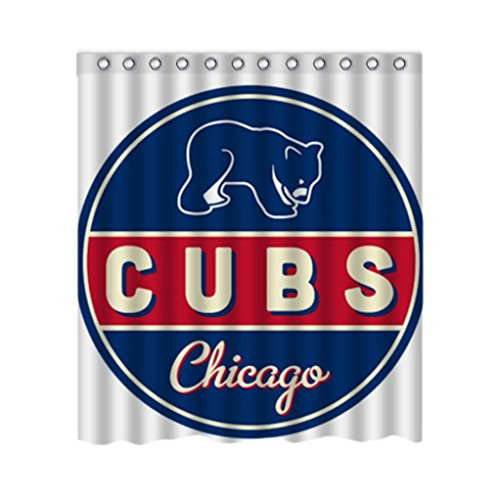 Chicago Cubs Shower Curtain Cubs Shower Curtain Cubs