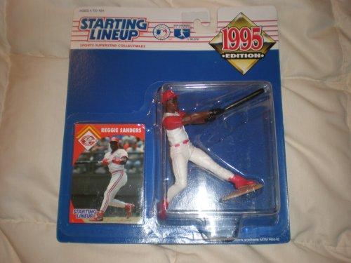 1995 Reggie Sanders MLB Starting Lineup Figure: Cincinnati Reds