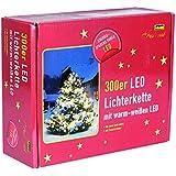 Idena LED Lichterkette, 300-er außen, warm weiß 30441
