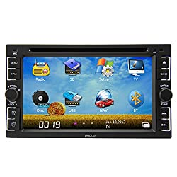 See Pupug GPS Navigation Car Stereo Bluetooth In Dash Car DVD Player 6.2 Inch Double Din FM AM Video Auto CD Audio PC Details