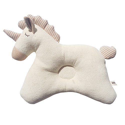 100% Organic Cotton Baby Prevent Flat Head, Horse Style Pillow
