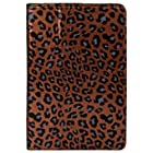 Brown Leopard Premium Fold to Stand Executive Faux Leahter Protective Carrying Case Cover for Samsung Galaxy Tab 7.7 Android Wireless Wifi Tablet (8GB 16GB 32GB Wifi)) + SumacLife TM Wisdom Courage Wristband