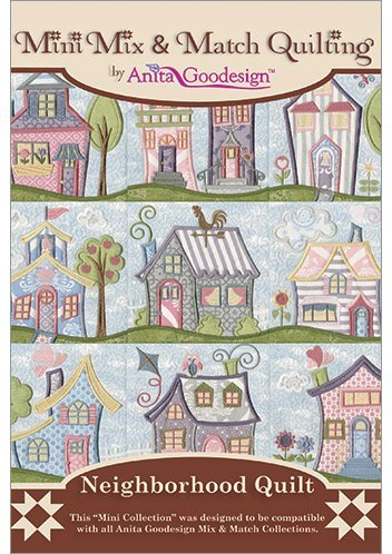 Fantastic Deal! Anita Goodesign Embroidery Designs Neighborhood Quilt