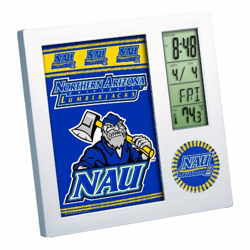 NCAA Northern Arizona Lumberjacks Digital Desk Clock Picture Frame