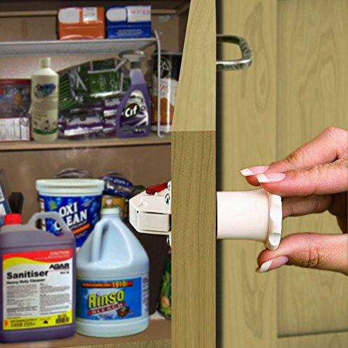 8 LOCKS + 2 KEYS - Premium Magnetic Cabinet & Drawer Safety Locks for Home Baby Proofing