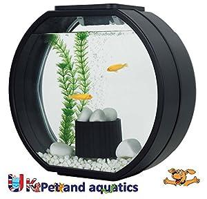 Pics Photos - Fish R Fun Panoramic Aquarium Fish Tank Black 12 Litre