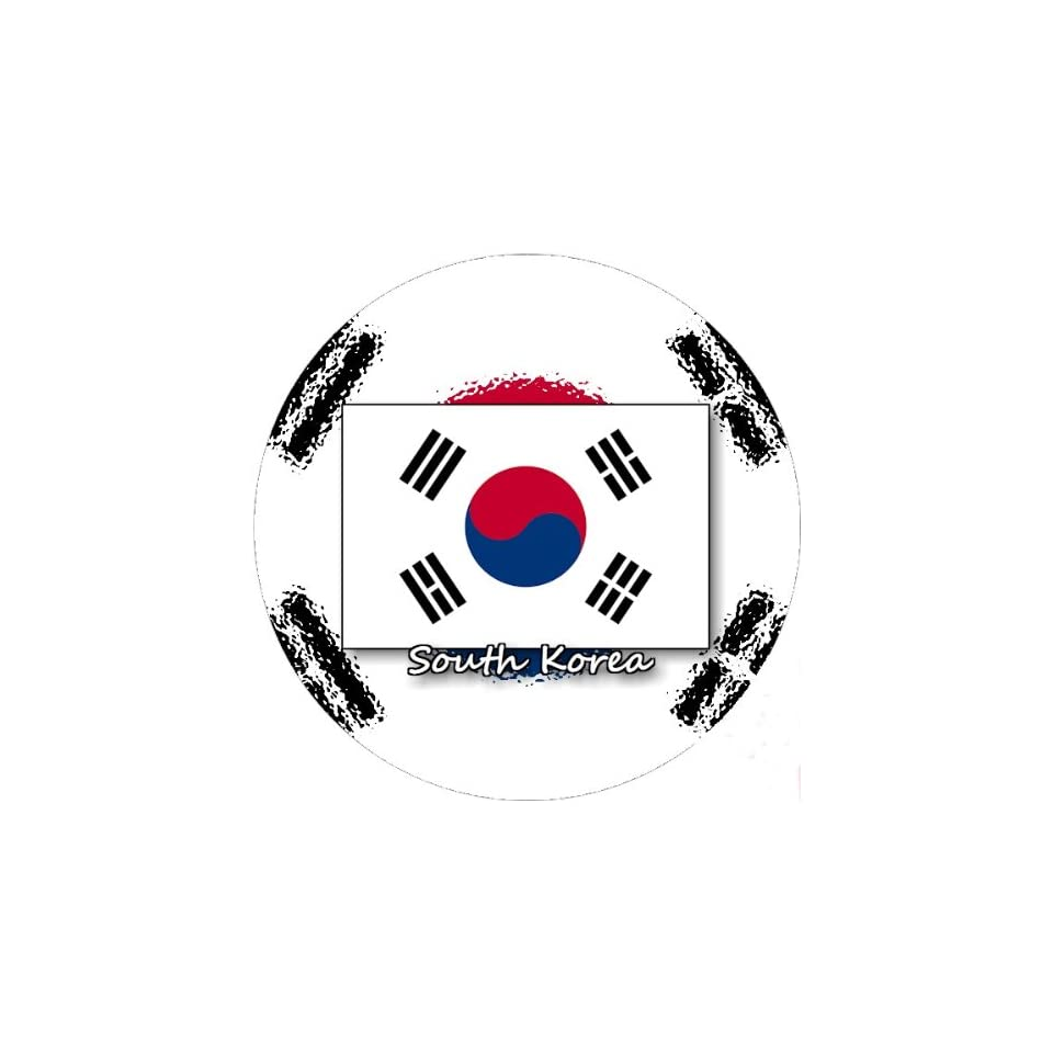 58mm Round Pin Badge South Korea Flag Novelty Buttons And
