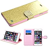 MyBat MyJacket with Diamante Belt for iPhone 6 Plus - Retail Packaging - Gold Glittering