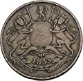 1835 Colonial East India Company British William IV Half Anna Coin Bombay i45056