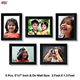 Ajanta Royal Classic set of 5 Individual Photo Frames 5-5x7 inch- WPC-05