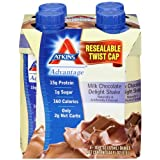 Atkins Ready To Drink Shake, Milk Chocolate Delight, 11-Ounce Aseptic Containers (Pack of 12) ~ Atkins