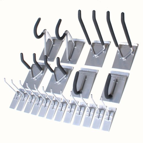Proslat 11004 1/8-Inch Backplates Hook Kit Designed for Proslat PVC Slatwall, Steel, 20-Piece