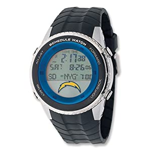 Mens NFL San Diego Chargers Schedule Watch by Jewelry Adviser Nfl Watches