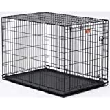 MidWest Life Stages Single-Door Folding Metal Dog Crate, 30 inches by 21 Inches by 24Inches