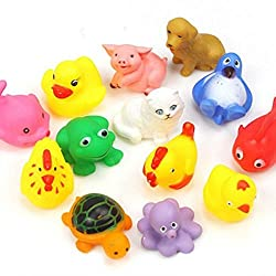Electomania Animal Bath Toys (Assortment of 13 toys)