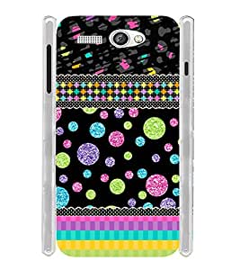 Girly Design Black Soft Silicon Rubberized Back Case Cover for Lava Flair P1