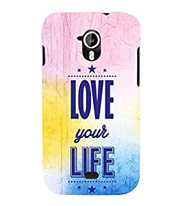 EPICCASE love towards life Mobile Back Case Cover For Micromax A116 Canvas HD (Designer Case)