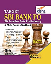 Target SBI Bank Preliminary & Main PO Exam - 20 Practice Sets Workbook with Online Tests