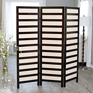 Kavari Canvas 3 Panel Room Divider - Rosewood