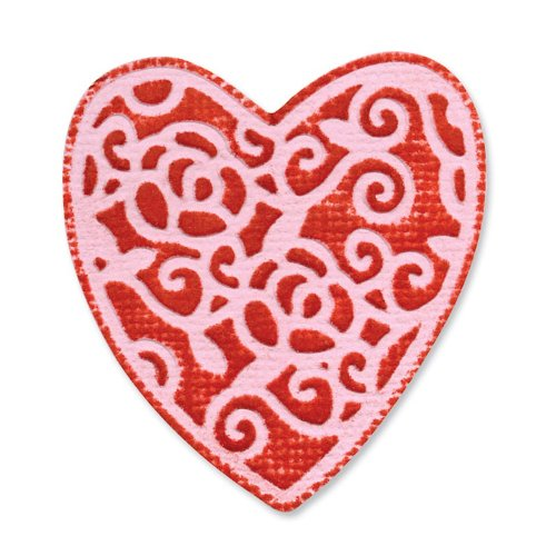 Sizzix Embosslits Die English Rose Heart