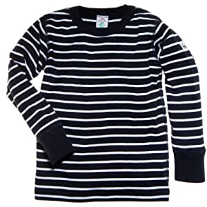 Polarn O. Pyret Little Boys Classic Stripe Eco Top - 2-3 years/Navy