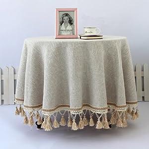 Amazon.com - Diaidi Beige Wedding Table Linens, Elegant Tablecloth