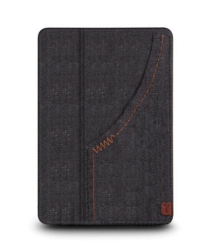 The Joy Factory SmartSuit iPad mini Ultra-Slim Snap-On Stand/Case with Wake-up/Sleep, Denim Black (CSE104) (Joy Factory Smartsuit Mini compare prices)