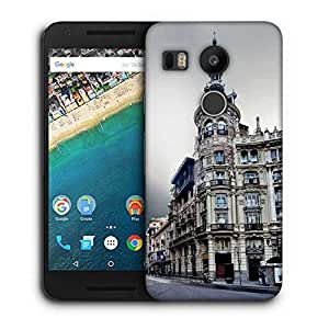 Snoogg Antique Buildings Printed Protective Phone Back Case Cover For LG Google Nexus 5X