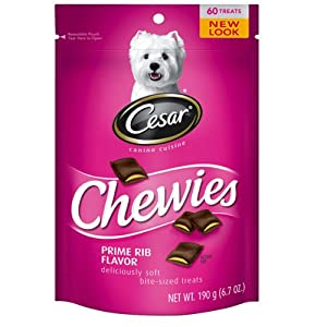 CESAR® Chewies Prime Rib Flavor Dog Treat (Pack of 4)