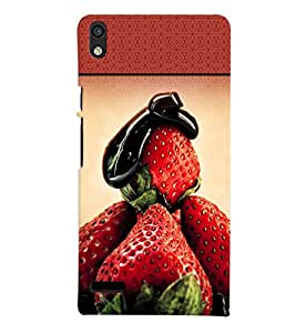 Fuson 3D Printed Fruit Designer back case cover for Huawei Ascend P6 - D4489