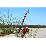 7' 8 Telescoping Fiberglass Rod & Reel Combo (2.4 M) by GFUSA by Gone Fishing USA Fiberglass Telescoping