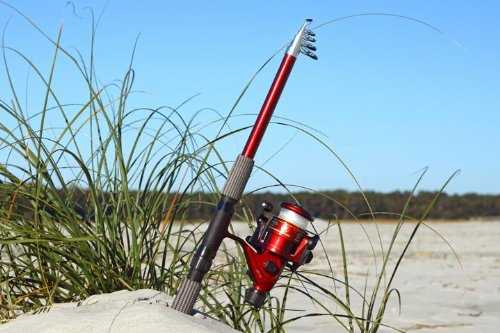 "7' 8"" Telescoping Fiberglass Rod & Reel Combo (2.4 M) By Gfusa®"