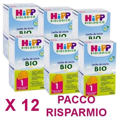 latte Hipp 1 da 600 grammi X 12 Confezioni - Pacco Convenienza