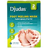 Djudas Foot exfoliating peel mask 2 pairs of socks - Effective Purederm peeling gel - exfoliant, Amazing SPA for Baby Soft Feet - Try it today