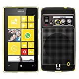 Head Case Designs Black Acoustic Guitar Amp Soft Gel Back Case Cover for Nokia Lumia 520 521 525