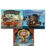 Jonny Duddle Pirate Series Collection 3 Books Set, (The Pirate-Cruncher, The King of Space and The Pirates Next Door) Jonny Duddle