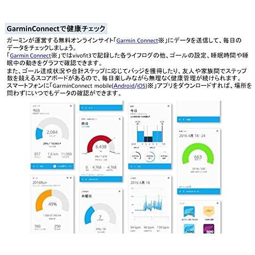 GARMIN ライフログバンド 活動量計 VIVOFIT3 ブラック 【 日本正規品 】