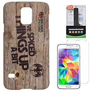 DMG Night Glow Hard Back Cover Case For Samsung Galaxy S5 G900 (Bacardi) + 2600 mAh PowerBank + Matte Screen