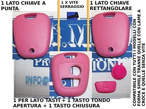 G.M. Production - CP KIT 01 Rosa - COVER GUSCIO SCOCCA ROSA PER CHIAVE TELECOMANDO 2 TASTO CITROEN PEUGEOT TOYOTA [controllare foto e dettagli compatibilità]