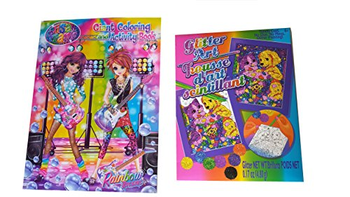 Lisa Frank Coloring Book and Glitter Art Kit Bundle (Full Size Coloring Books compare prices)