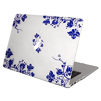 2. Mosiso AIR 13-inch Blue and White Porcelain Soft-Touch Plastic Clear Hard Case Cover for Apple MacBook Air 13.3